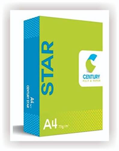 A4 Copier Paper Century Star 75 Gsm