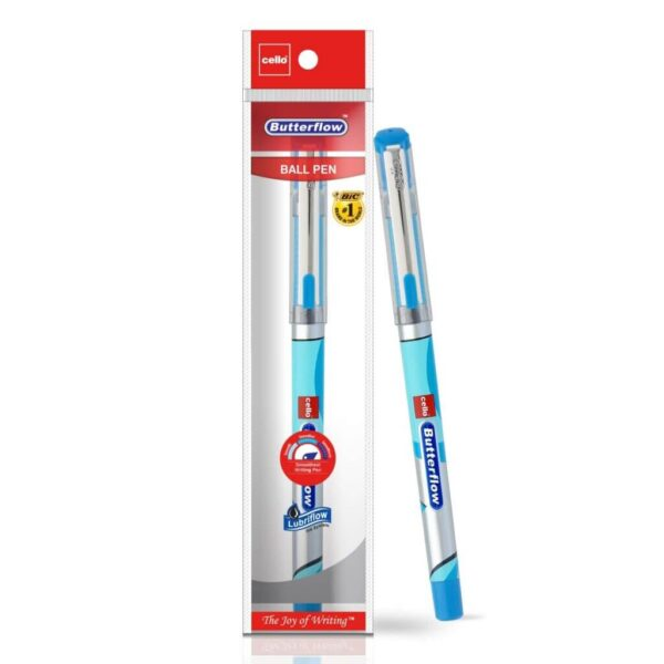 Cello Butterflow Ball Pen Set (Pack of 10 pens - Blue)