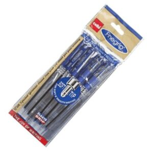 CELLO FINEGRIP BALL PEN BLUE PK5