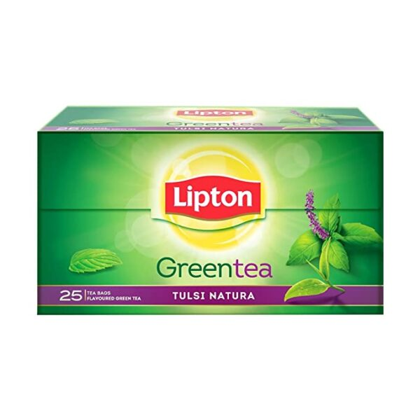 Lipton Tulsi Natura Green Tea Bags, 25 Pieces