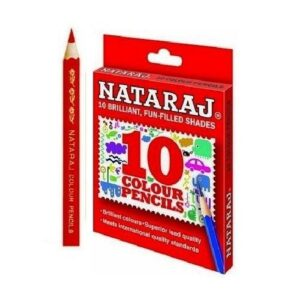 NATARAJ 12COLOUR PENCIL HALF SIZE