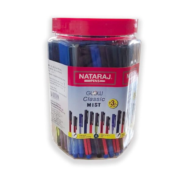 NATARAJ GCM BALL PEN BLU:JAR(100)