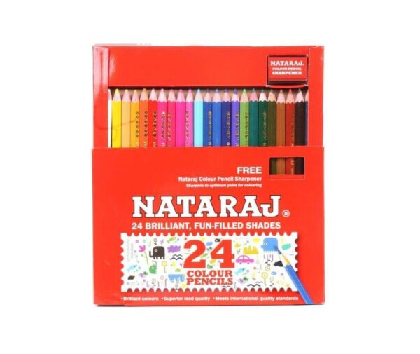 Nataraj 10 Colour Pencil Halfsize