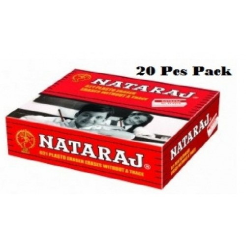 Nataraj 621 Plasto Eraser (Pack of 20)
