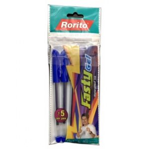 Rorito Fasty Gel Black (Pack Of 5)