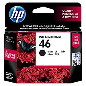 46 no cartridge HP Black