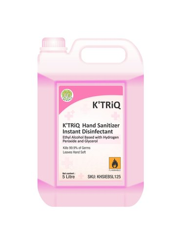 """K'TRiQ - Hand Sanitizer Disinfectant Liquid - Ethanol 80% with Hydrogen Peroxide /Pink/Blue"""
